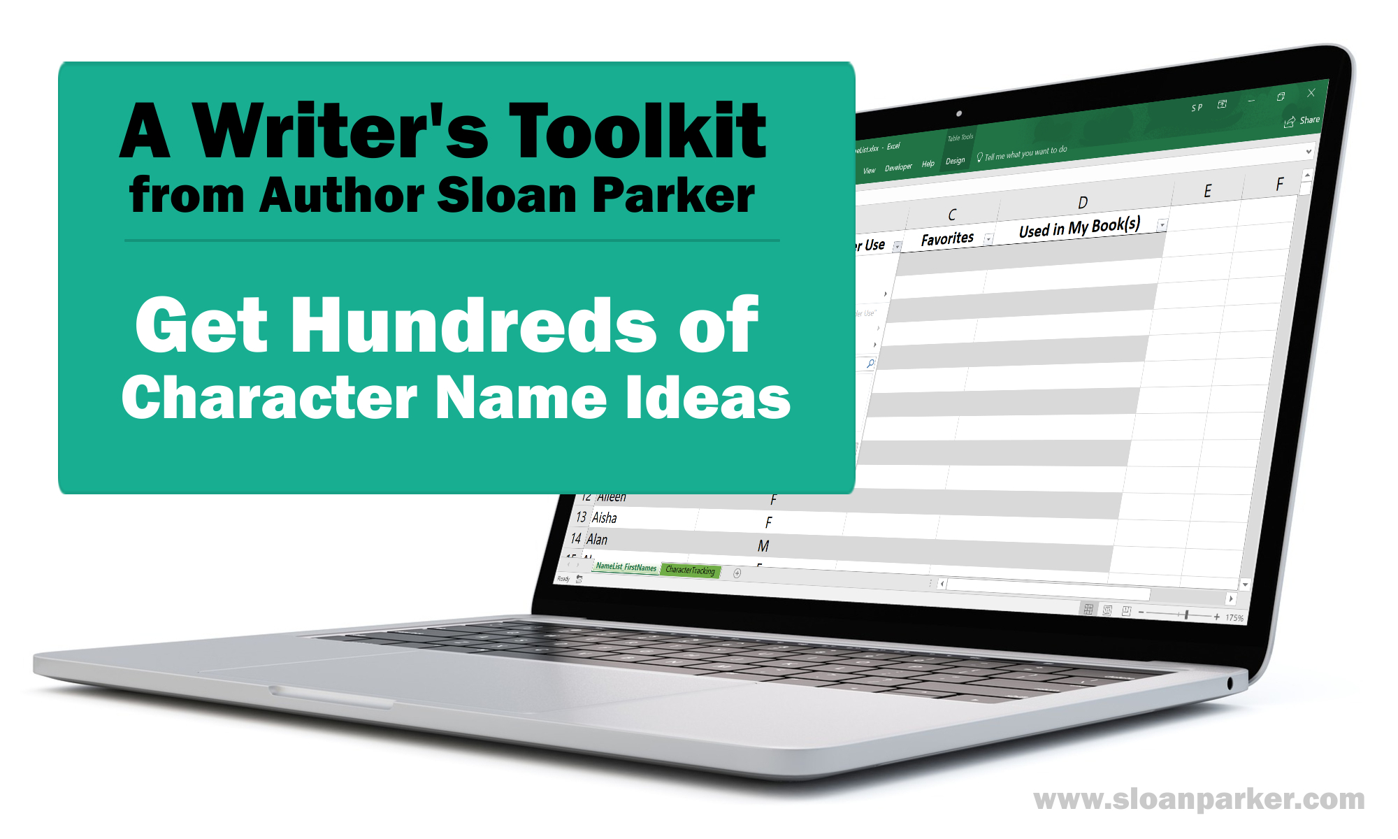 Character Tracking Worksheet for Writers