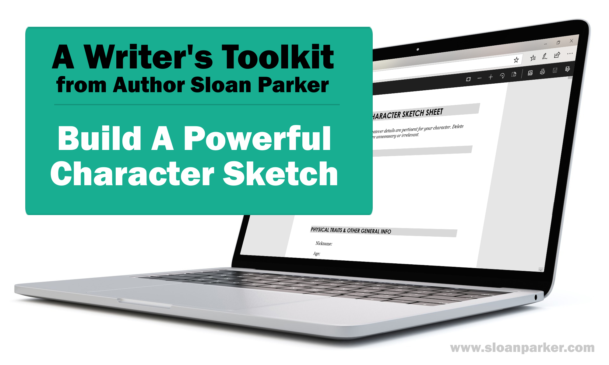 Character Sketch Worksheet for Writers and Authors